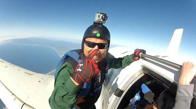 How an immigrant pulled himself up by his bootstraps – and strapped on a parachute.