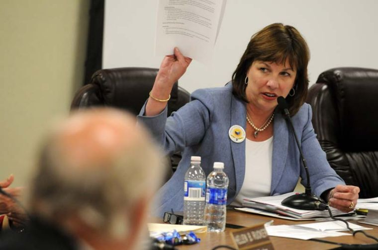 With her $750,000 claim denied, former MPUSD supe Marilyn Shepherd sues Monterey over pothole fall.