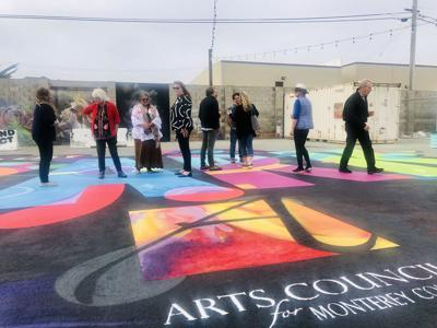 new ground mural in the Sand City Art Park