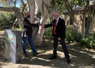 Jimmy Panetta and Pacific Grove Mayor Bill Peake