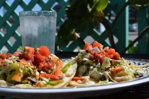 Tilapia tacos at Turtle Bay