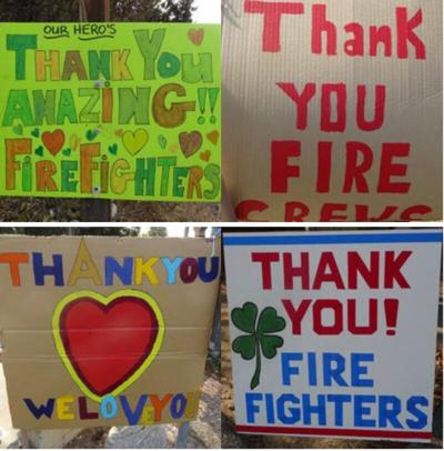 Thank you signs from Monterey County residents