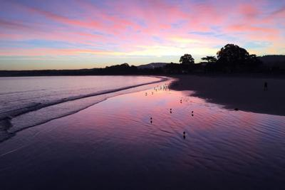 Del Monte Beach In Monterey At Sunrise