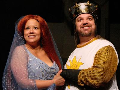 PacRep's faithful take on Monty Python's Spamalot musical is silly, clever and historical entertainment.