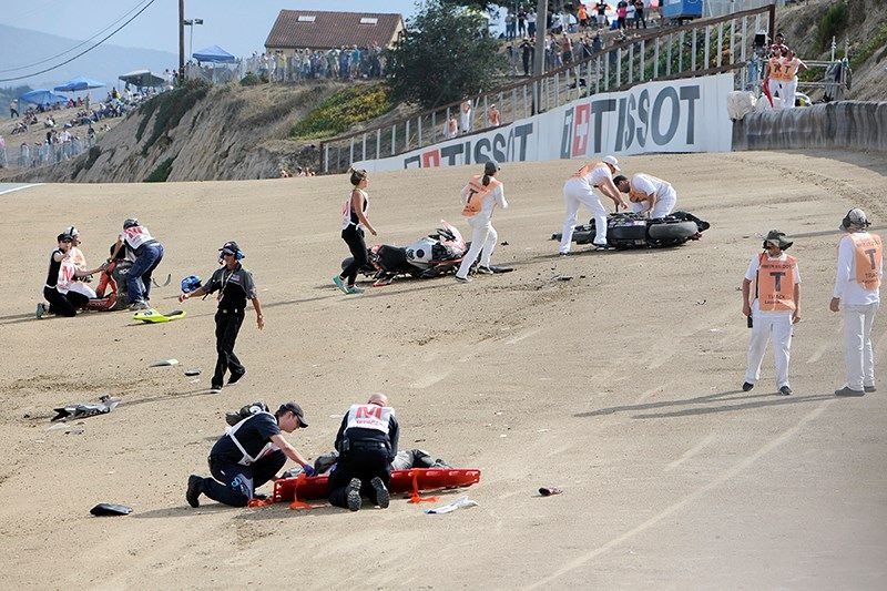 Mazda Raceway Laguna Seca >> Update Two Riders Dead In Chaotic Crash At World Superbike