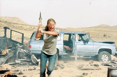 A remake of Wes Craven's 1977 cult classic, <i>The Hills Have Eyes,</i> features humans mutated by bomb tests.