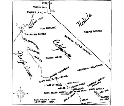 A 1927 map by Paramount Pictures.