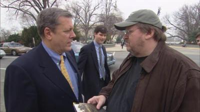 Filmmaker Michael Moore questions post-9/11 politics, and makes it artful.