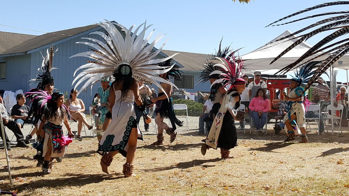 Costumed Dancers at Sand City Indigenous Day