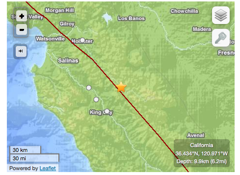 a 4 4 earthquake out of greenfield rattles monterey county and rh montereycountyweekly com