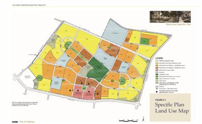 Land Use Map for the West Area Specific Plan