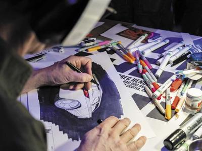 Detroit comes to Pebble Beach for the 'Fight Club' of automotive sketching.