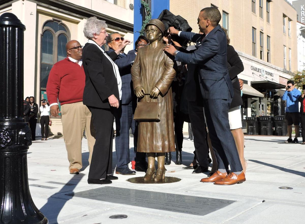 Rosa Parks honored with statue in downtown Montgomery - 1