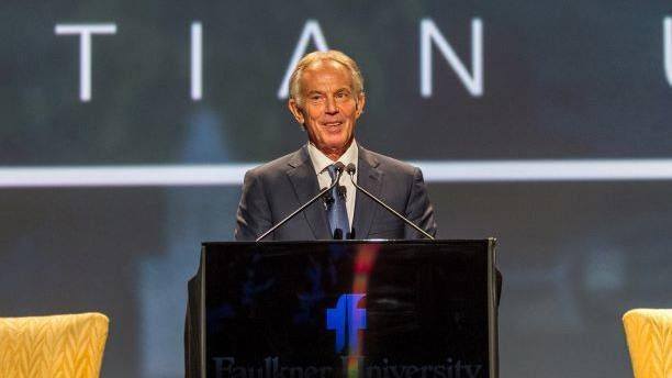 The Rt. Hon. Tony Blair speaks on faith, God and values at Faulkner University's Annual Benefit Dinner