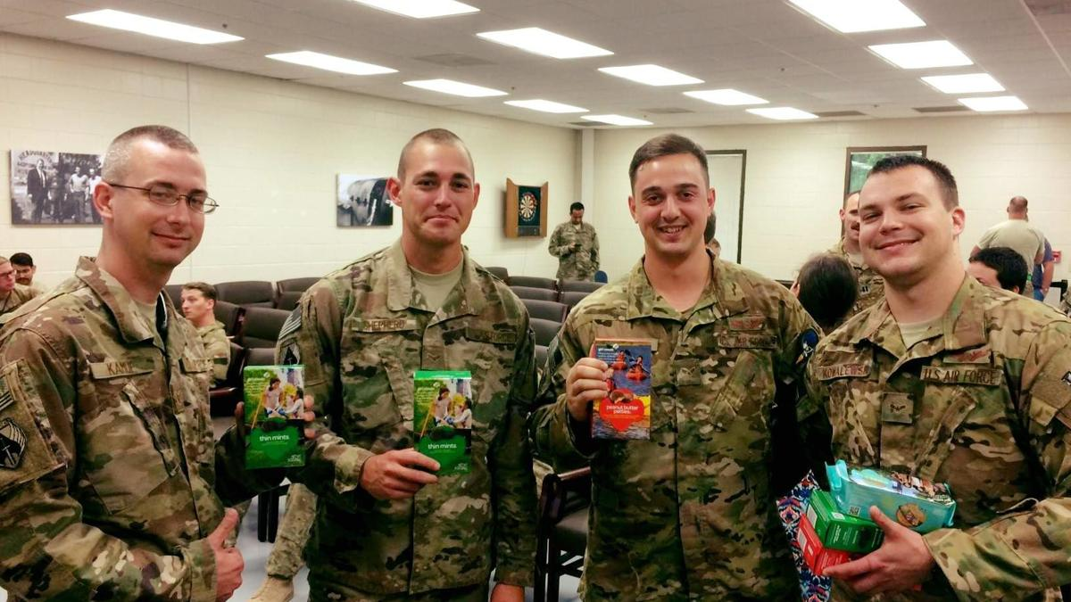 Girl Scout's help give a taste of home to soldiers