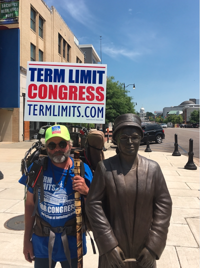 Advocate Trekking from Key West to Washington State for Term Limits on Congress - 1