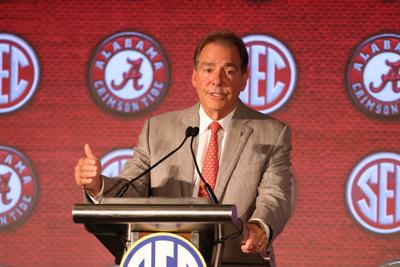 Saban spends most of his time discussing off-the-field issues