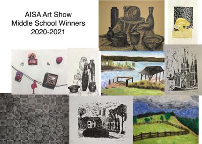Saint James Middle School Art Students Show Well at AISA District Competition