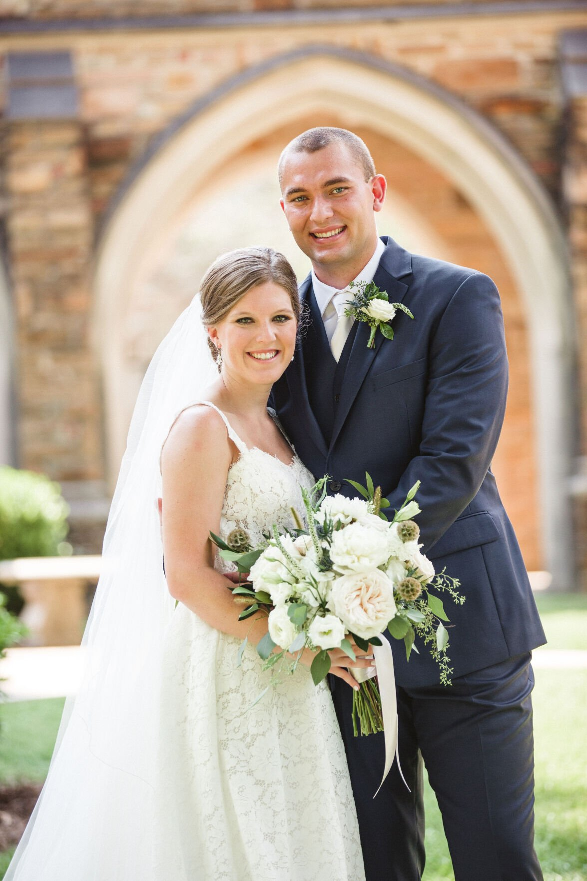 Rachel Lee and Isaac Edmiston exchange vows at First United Methodist Church - 1