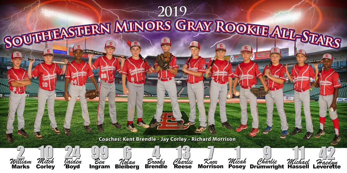 2019 Southeastern Minors Gray Rookie All-Stars