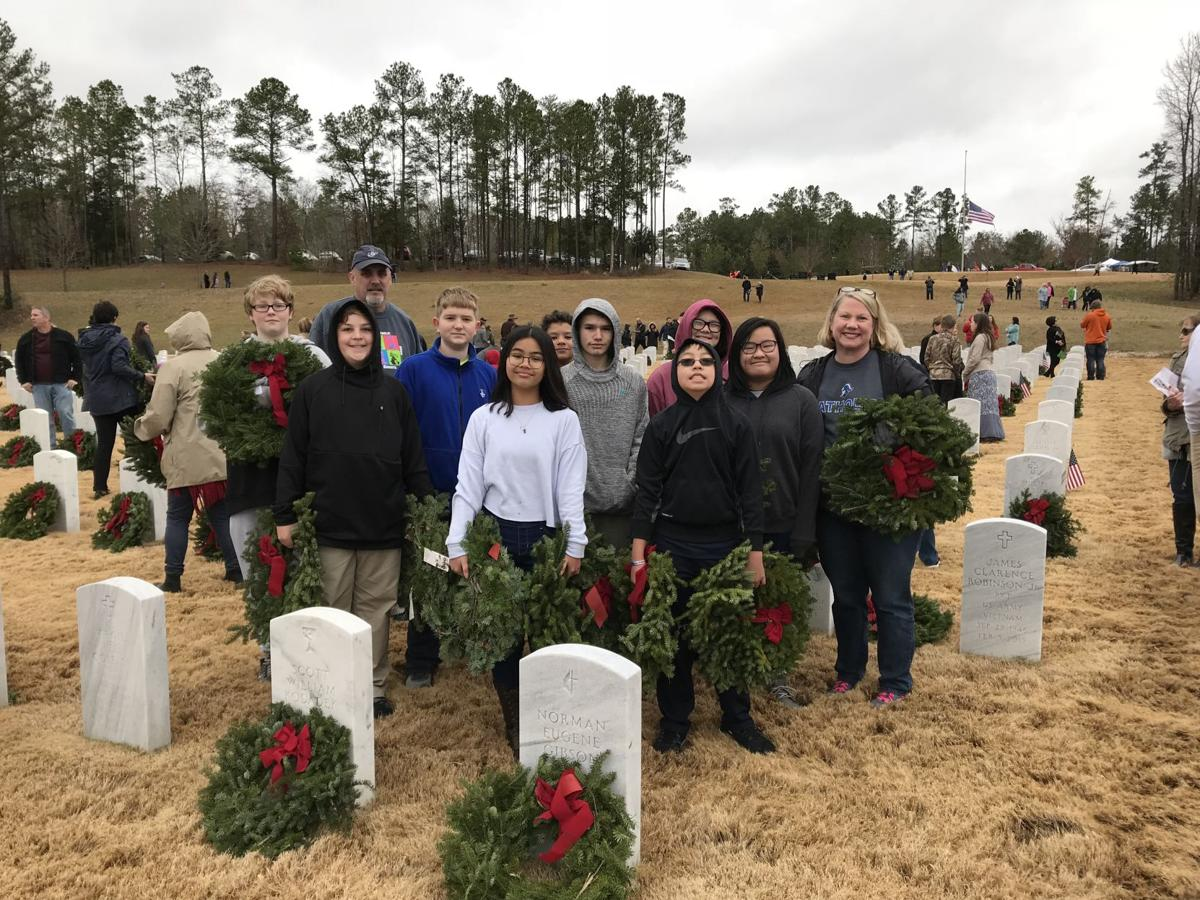 Montgomery Catholic students honor fallen  veterans with Wreaths Across America - 1