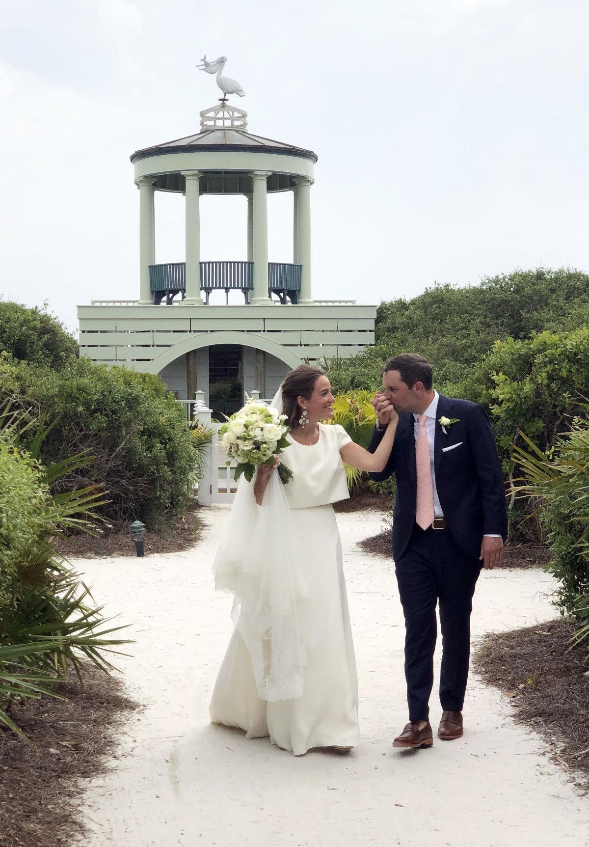 Mary Elizabeth Adams and Scott Grant exchange vows in Seaside - 1