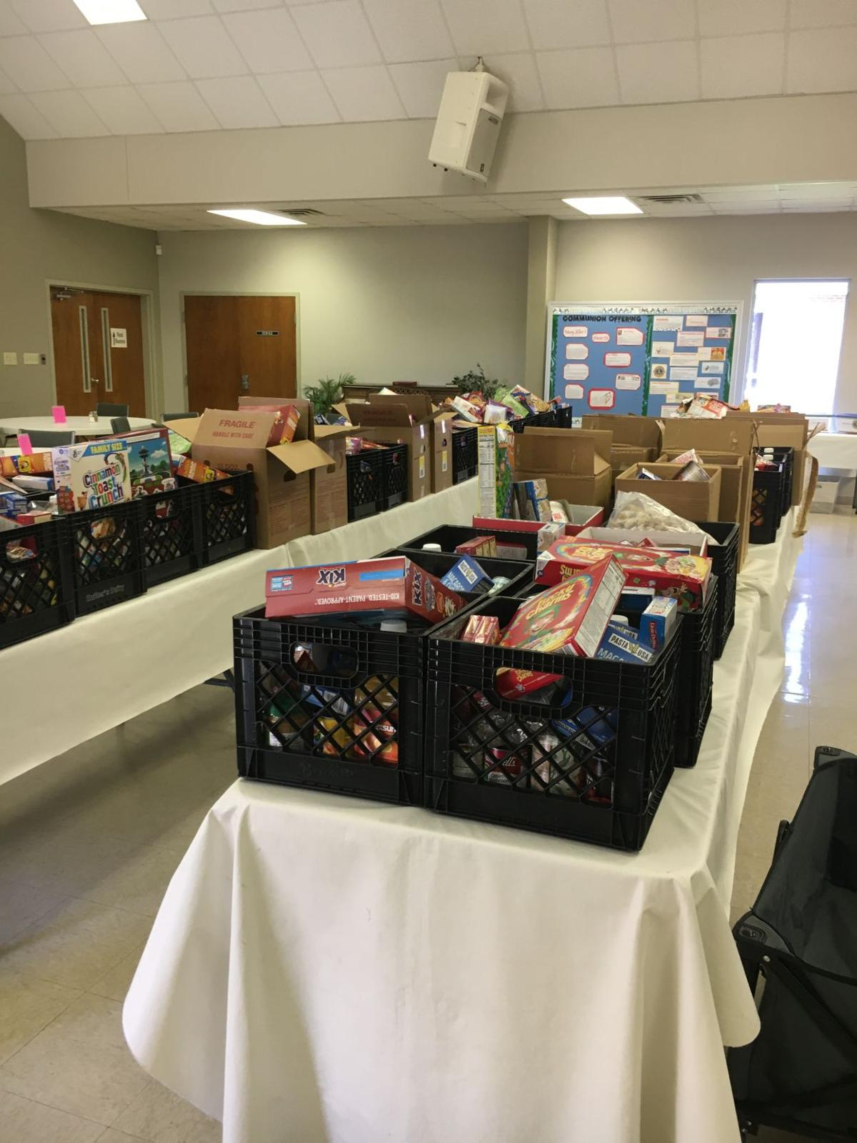 Pike Road Lions donation to Woodland UMC food pantry