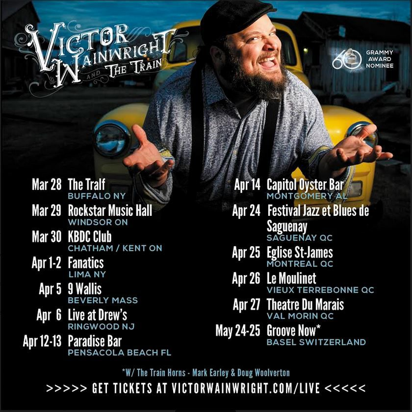 2019 Grammy Nominee Victor Wainwright & The Train on Tour, Performing at Capitol Oyster Bar flyer