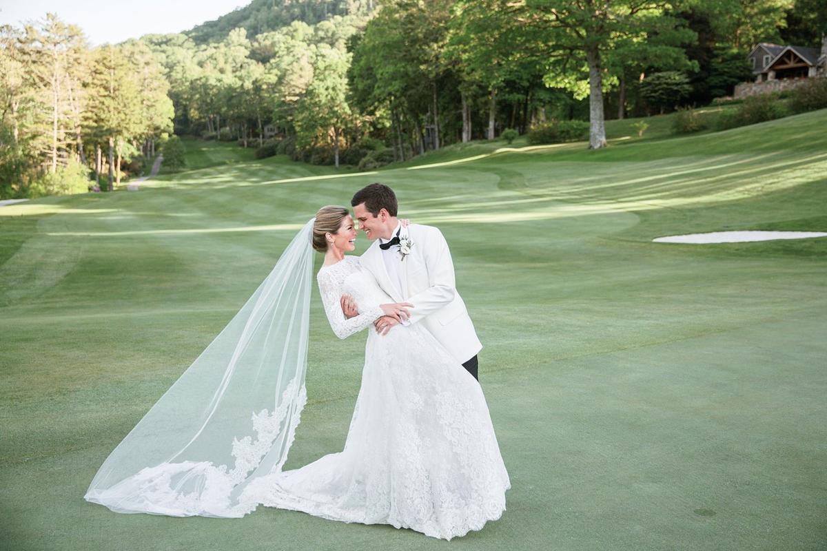 Sarah Reid Harris and Alex Harrison exchange vows in Highlands - 1
