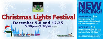 Montgomery Mayor to Flip the Switch on the 28th Annual Montgomery Zoo and Mann Wildlife Learning Museum Christmas Lights Festival