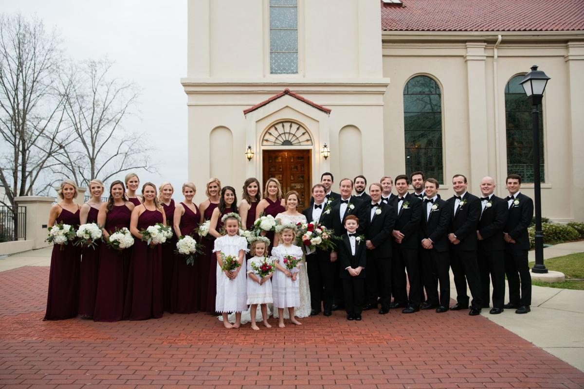 Rebecca Hails and Trey Holtsford exchange vows at St. Peter - 2