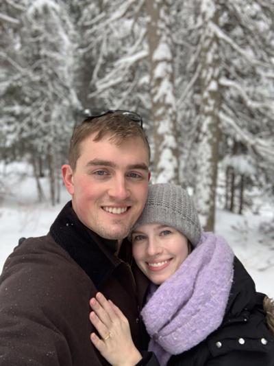 """Amelia Prieur Tankersley, M.S. (""""Mia"""") and 1LT Jonathan Burgess Joyner (""""Jon"""") are engaged"""
