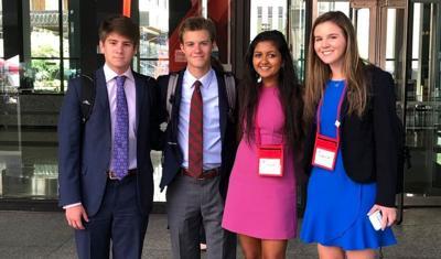 MA Students argue  appeals case