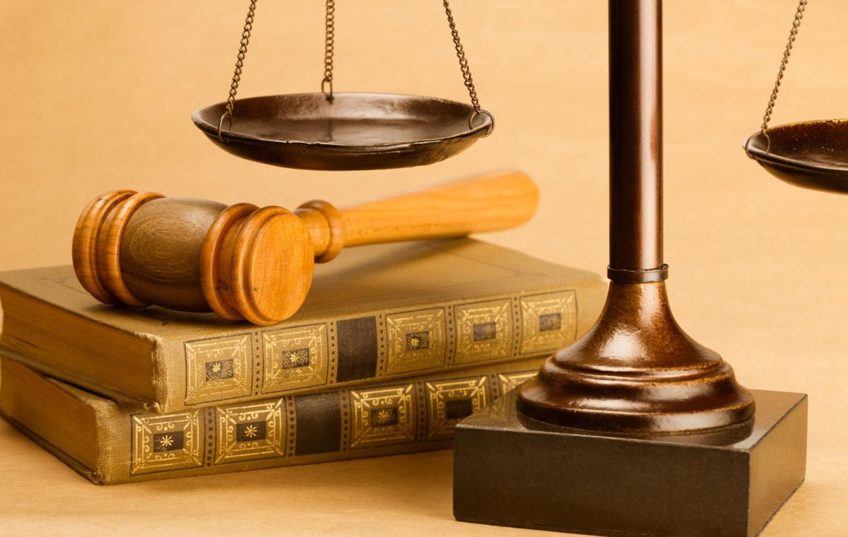 gavel and justice scales