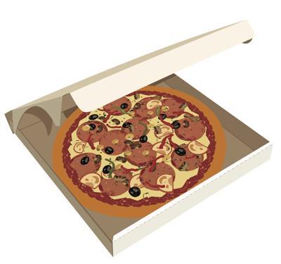 Pizza in box sketch generic