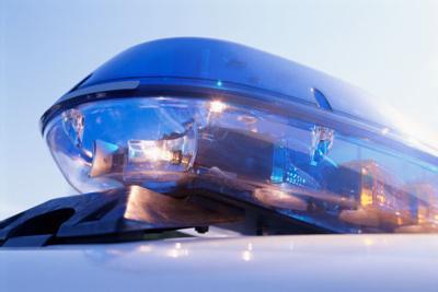 police blue light bar