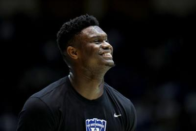Duke's Zion Williamson before a game against Clemson at Cameron Indoor Stadium in Durham, N.C., on Jan. 5, 2019. A Miami judge has ruled Williamson must answer questions under oath regarding his eligibility to play basketball at Duke.