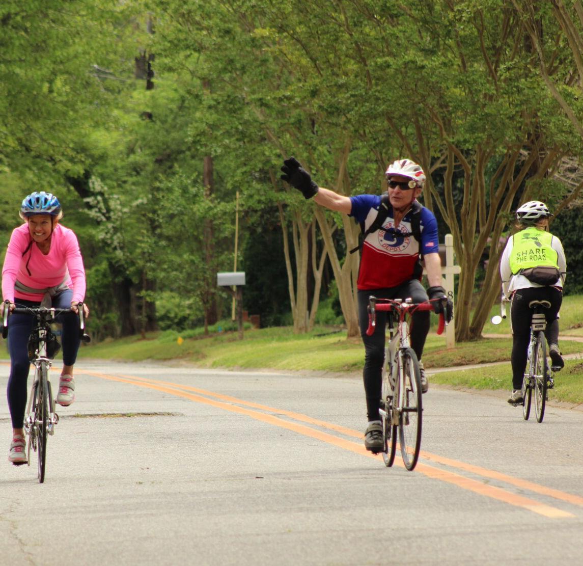 BRAG Riders wave to bystanders