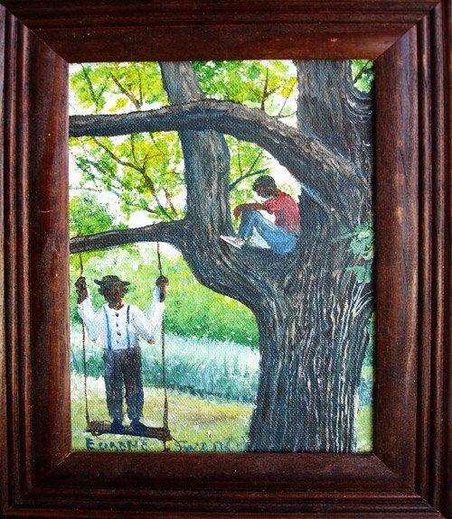 Eugene Swain painting