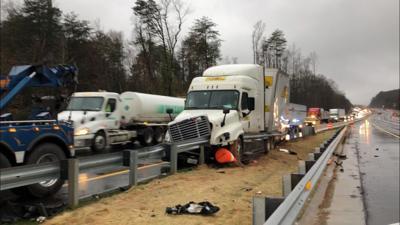 UPDATE: Multiple wrecks back up interstate, one vehicle flees scene