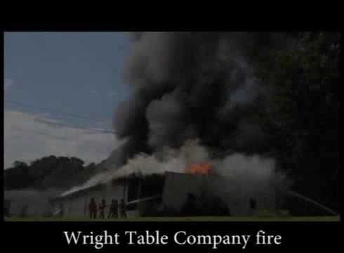 Fire Devastates Wright Table Company Furniture Factory; Lightning Suspected  As Cause | News | Morganton.com