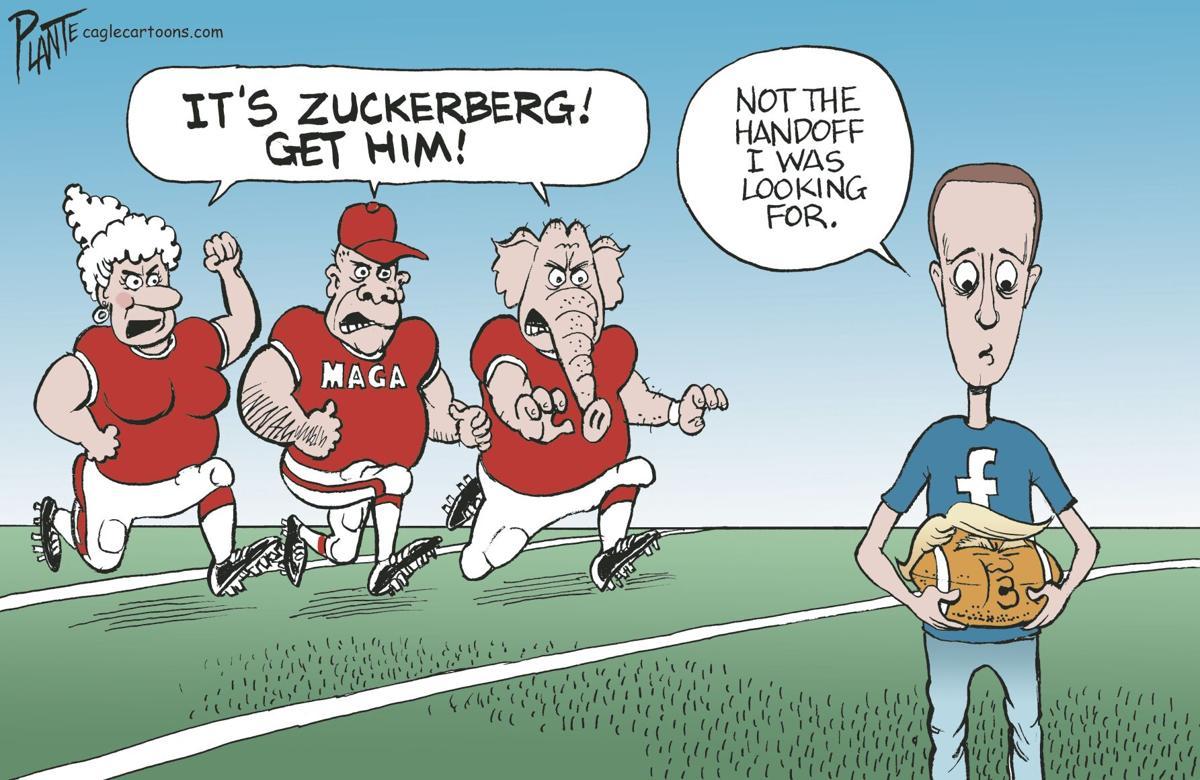 Zuckerberg gets the handoff...