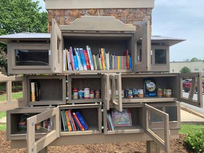 Valdese Old Rock School little free library/pantry