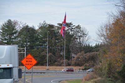exit 119 Confederate flag