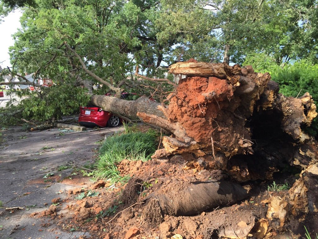 Damage Power Outages Reported In Area After Severe Thunderstorm