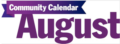 August community calendar graphic