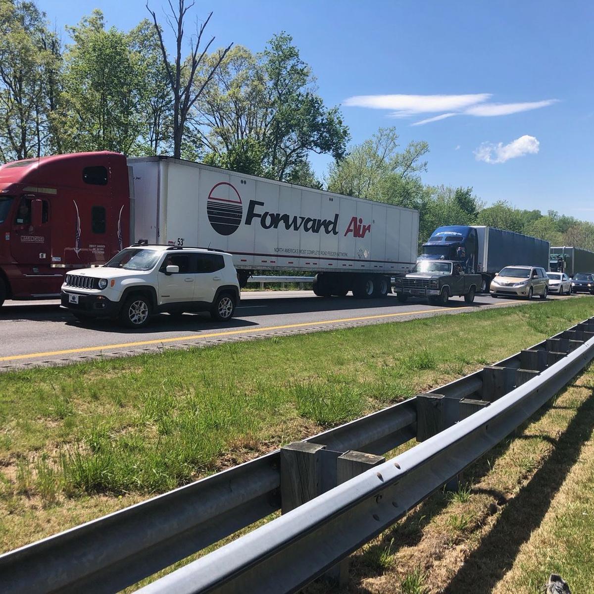 Wreck slows traffic on I-40 eastbound | News | morganton com