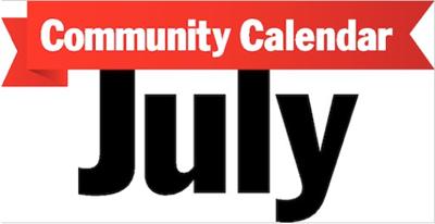 July community calendar graphic