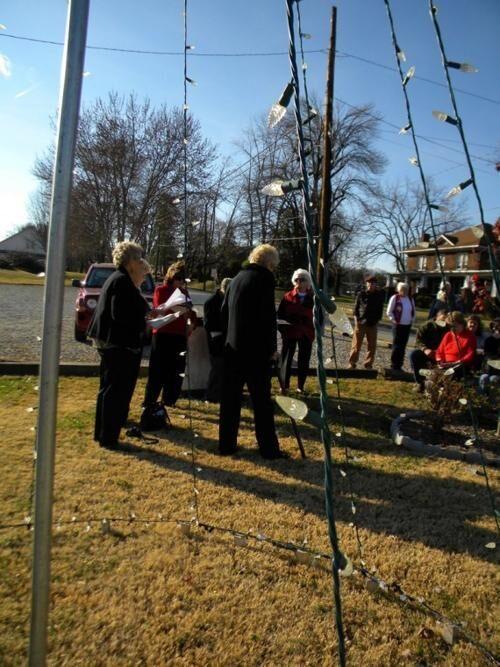 Glen Alpine Memorial Tree lighting ceremony