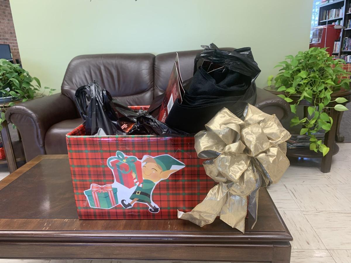 Senior Center Christmas gift box photo